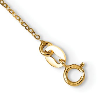 14k Polished Puffed Rose 18in Necklace