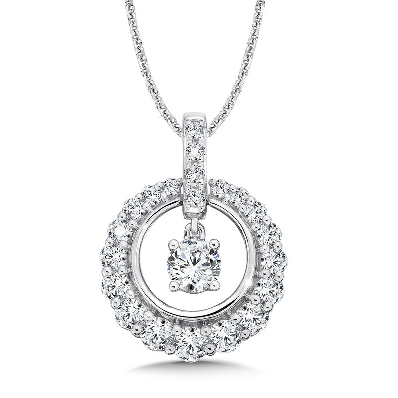 Menashe sons jewelers caro74 diamond round pendant with diamond caro74 diamond round pendant with diamond bale in 14k white gold 12ct mozeypictures Gallery
