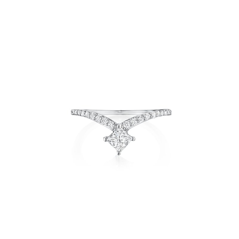 Penny Preville Princess Cut V Ring