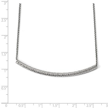 Leslie's Sterling Silver Bar w/2in ext. Necklace