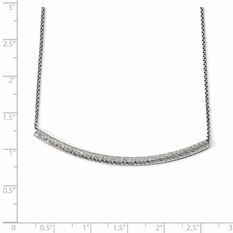 Leslie's Leslie's Sterling Silver Bar w/2in ext. Necklace
