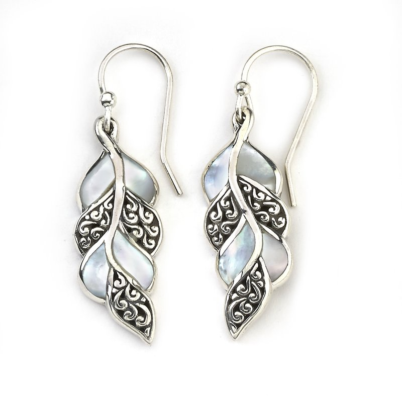 Samuel B Cascada Leaf Earrings