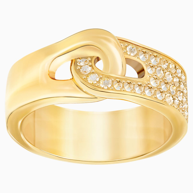 Swarovski Gallon Ring, Golden, Gold-tone plated