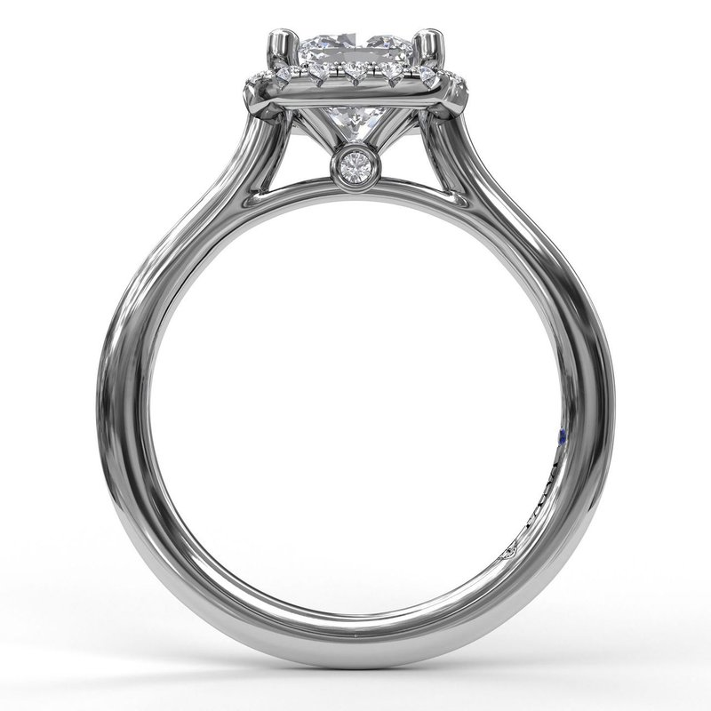 Fana Classic Cushion Halo Engagement Ring