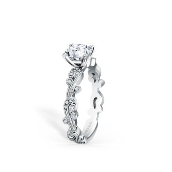 Milgrain Poetic Diamond Engagement Ring