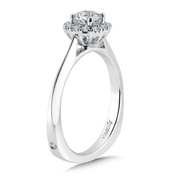 Classic Elegance Collection Halo Engagement Ring in 14K White Gold (1/2ct. tw.)