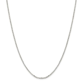 Sterling Silver 2mm Diamond-cut Cable Chain