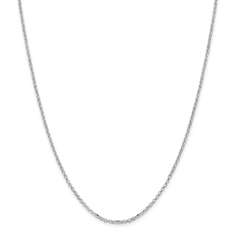 Quality Gold Sterling Silver 2mm Diamond-cut Cable Chain