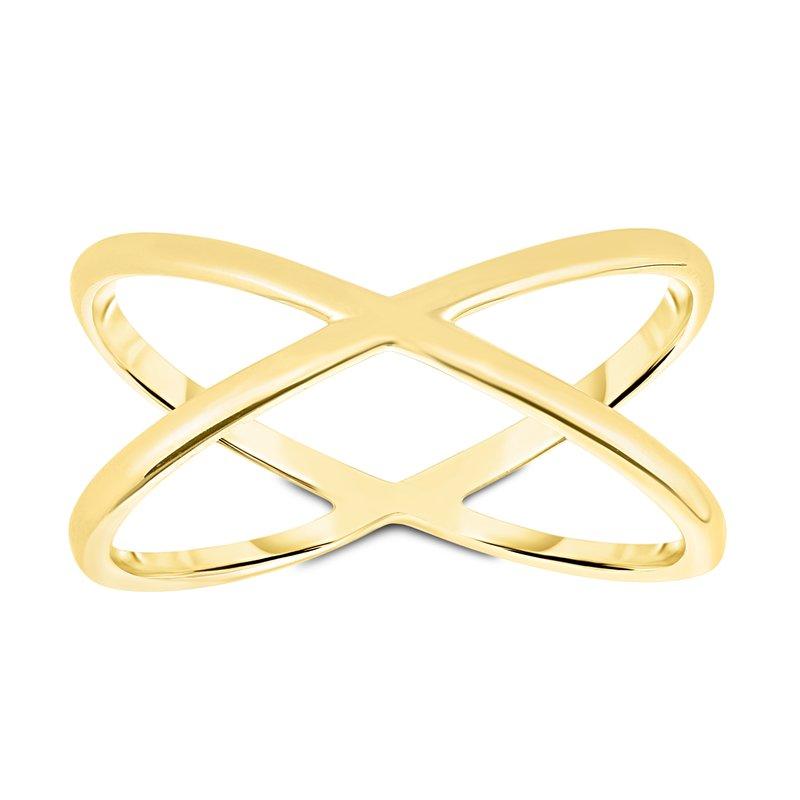 Royal Chain 14K Gold Crisscross Ring