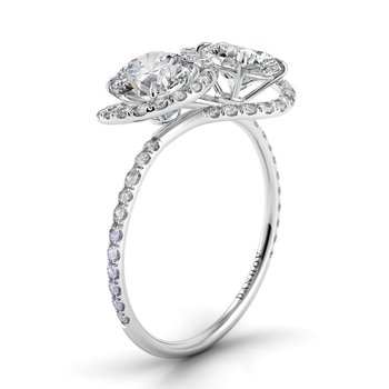 Abbraccio Two Stone Engagement Ring