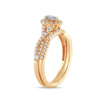 14K 0.50Ct Diamond Bridal Ring