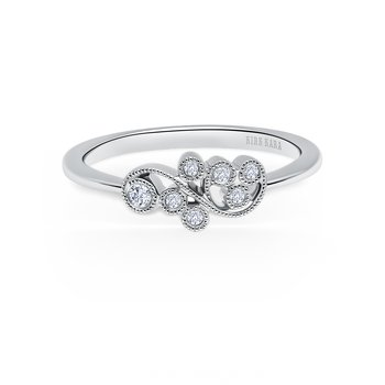 Whimisical Diamond Wedding Band