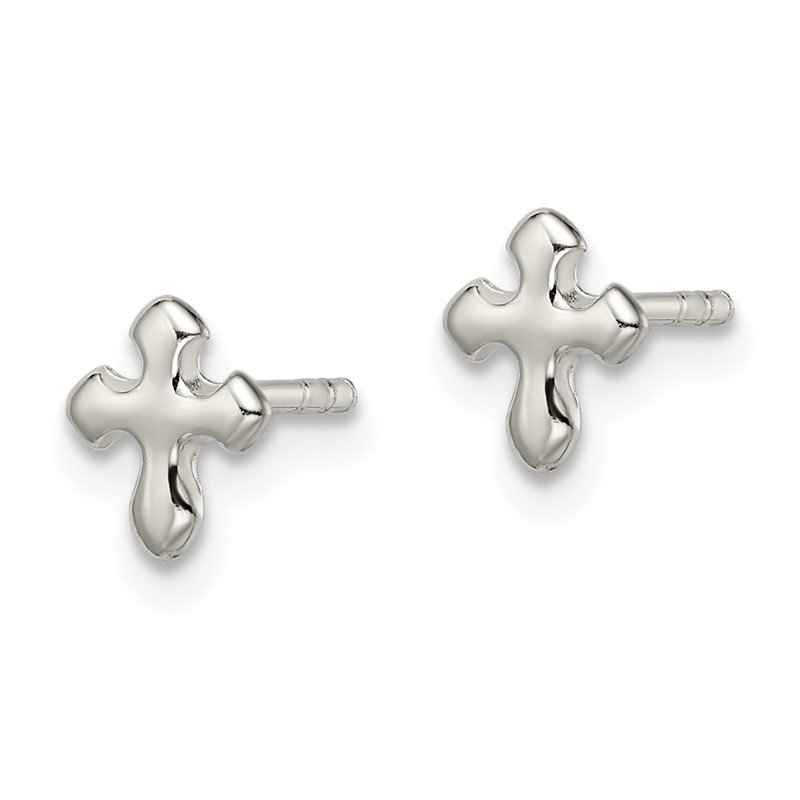 Quality Gold Sterling Silver Cross Earrings