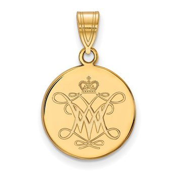 Gold College of William & Mary NHL Pendant