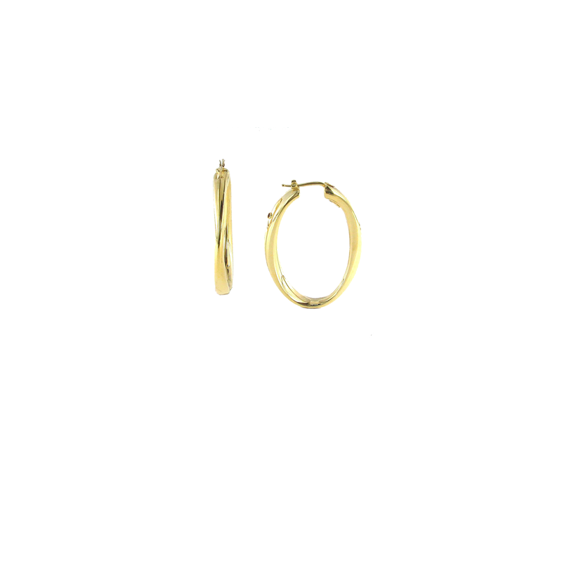 Roberto Coin 18Kt Gold Lg Contoured Hoop Earring