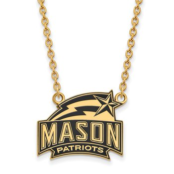Gold-Plated Sterling Silver George Mason University NCAA Necklace