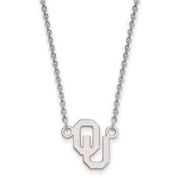 Sterling Silver University of Oklahoma NCAA Necklace