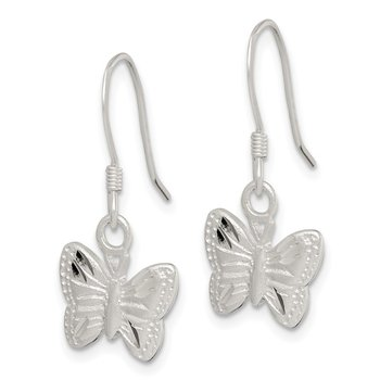 Sterling Silver Polished Butterfly Earrings