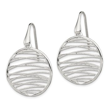 Sterling Silver Polished & Textured Earrings