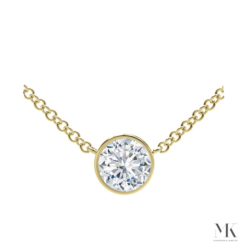 Forevermark Tribute Yellow Gold Round Diamond Necklace