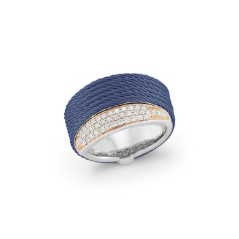 Blueberry Cable Peekaboo Ring with 18kt Rose Gold & Diamonds