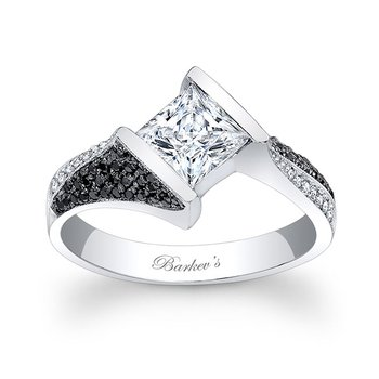 Black and White Diamond Engagement Ring