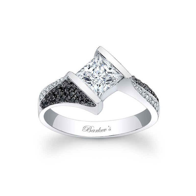Barkev's Black and White Diamond Engagement Ring