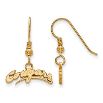 Gold-Plated Sterling Silver Washington State University NCAA Earrings
