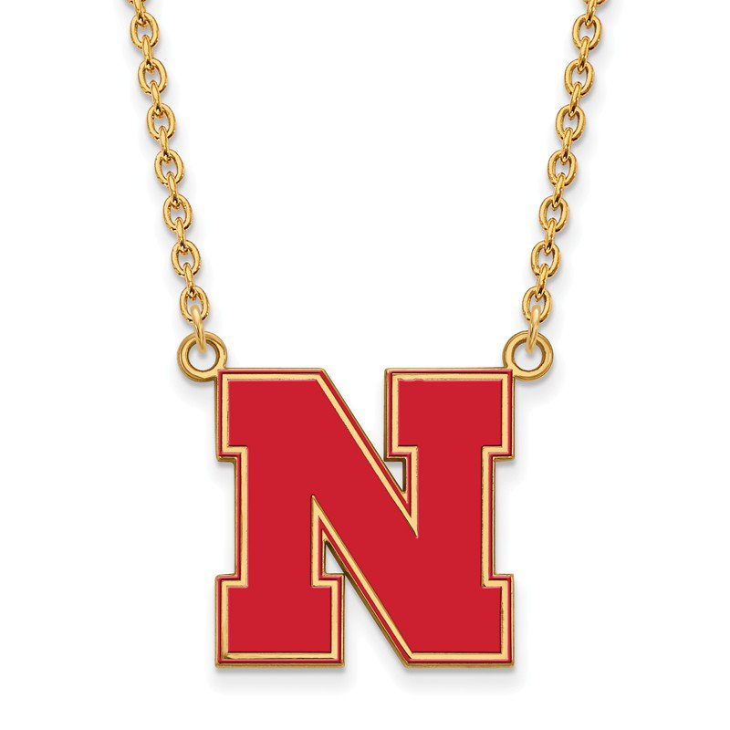 NCAA Gold-Plated Sterling Silver University of Nebraska NCAA Necklace