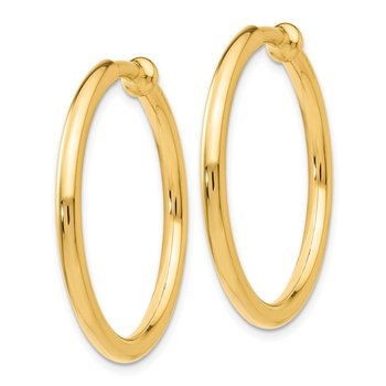 14k Non-Pierced Hoops Earrings