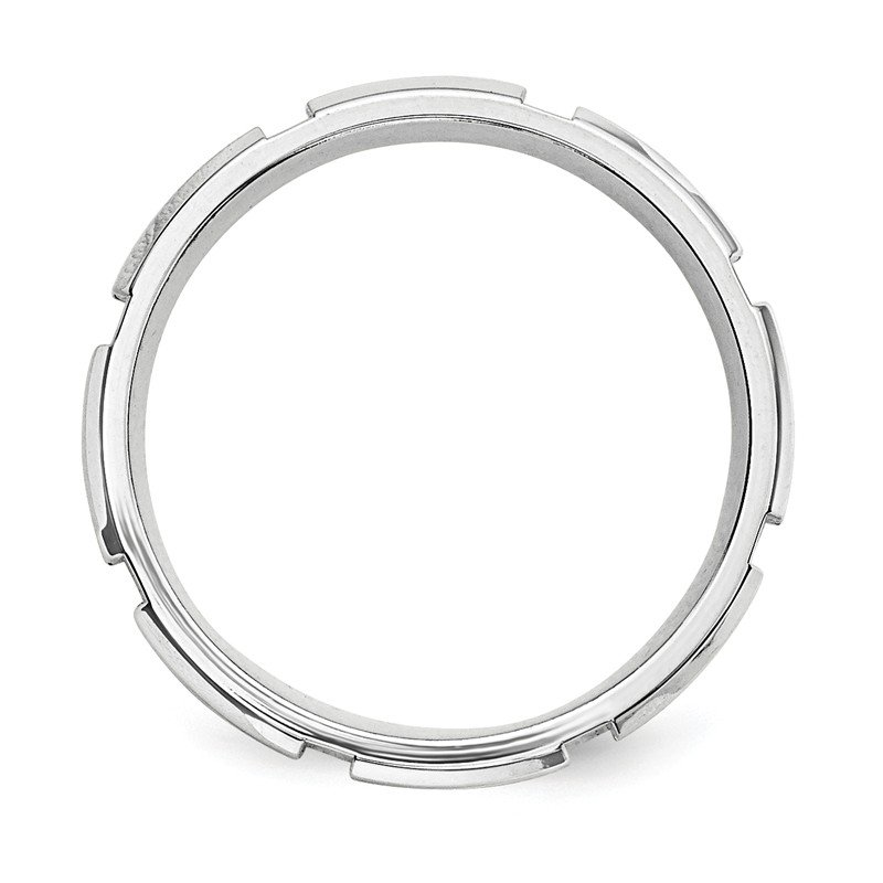 JC Sipe Essentials SS 7mm Polished Fancy Band Size 10