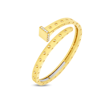 Wide Chiodo Bangle With Diamonds