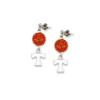 Sterling Silver University of Tennessee NCAA Earrings