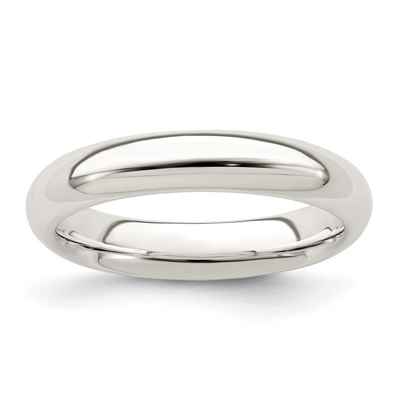 Quality Gold Sterling Silver 4mm Comfort Fit Band