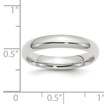 Sterling Silver 4mm Comfort Fit Band