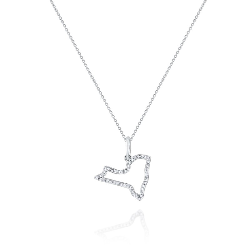 KC Designs 14K Mini New York State Necklace