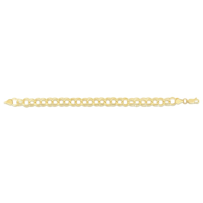 Royal Chain 14K Gold Large Double Link Charm Bracelet