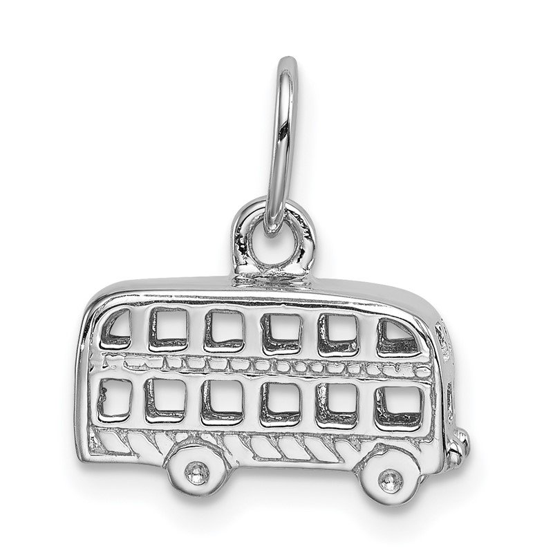 Quality Gold Sterling Silver London Bus Charm