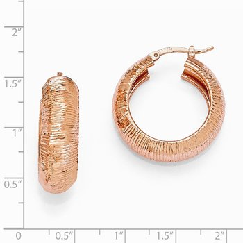 Leslie's SS Radiant Essence Rose-tone Flash 24k Plated Earrings