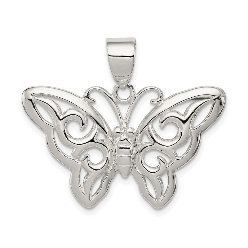 Quality Gold Sterling Silver Butterfly Pendant