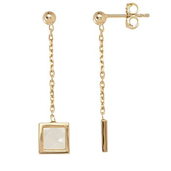 Square Chain Drop Earrings