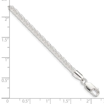 Sterling Silver 3.7mm Round Spiga Chain