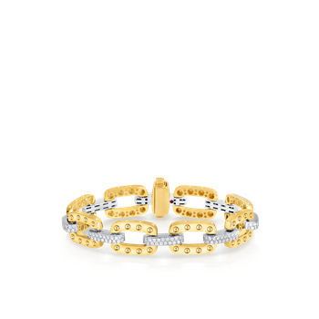 18Kt Gold Link Bracelet With Diamonds