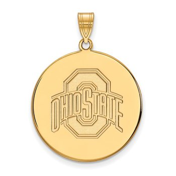 Gold-Plated Sterling Silver Ohio State University NCAA Pendant