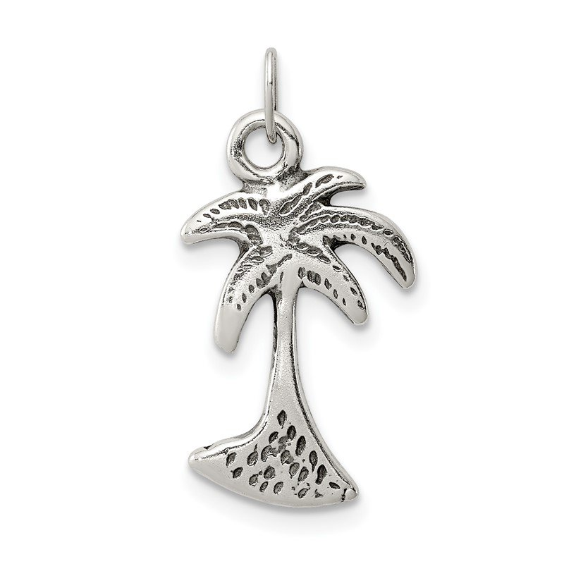 Quality Gold Sterling Silver Palm Tree Charm