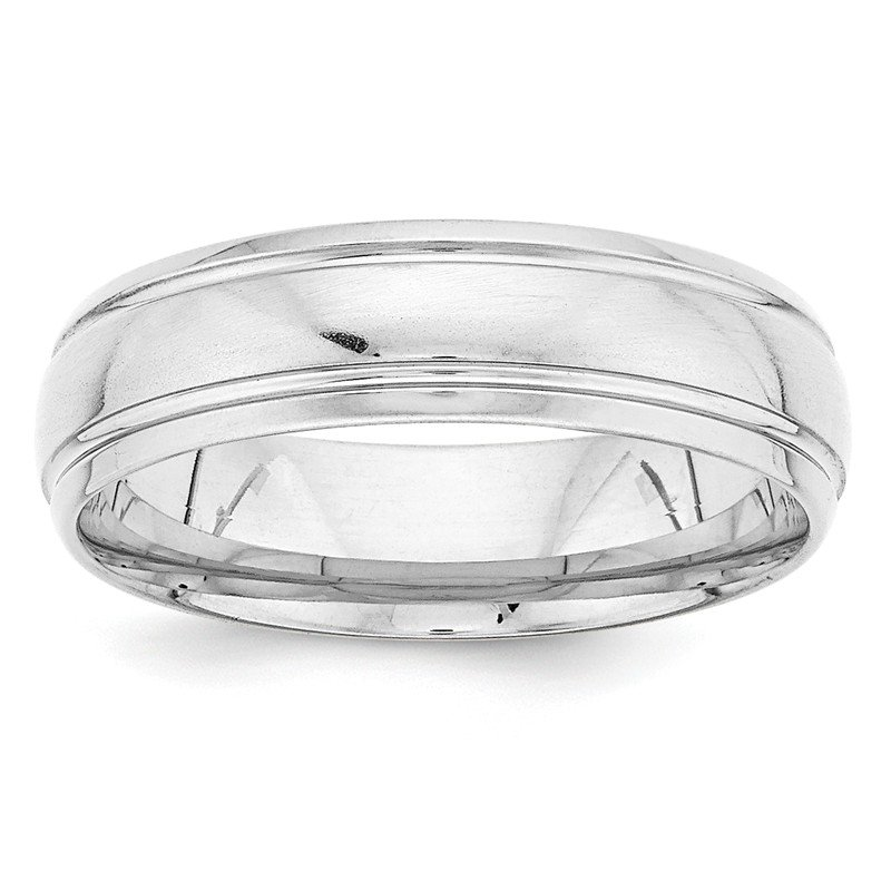 Lester Martin Online Collection 14k White Gold Standard Comfort Fit Fancy Band