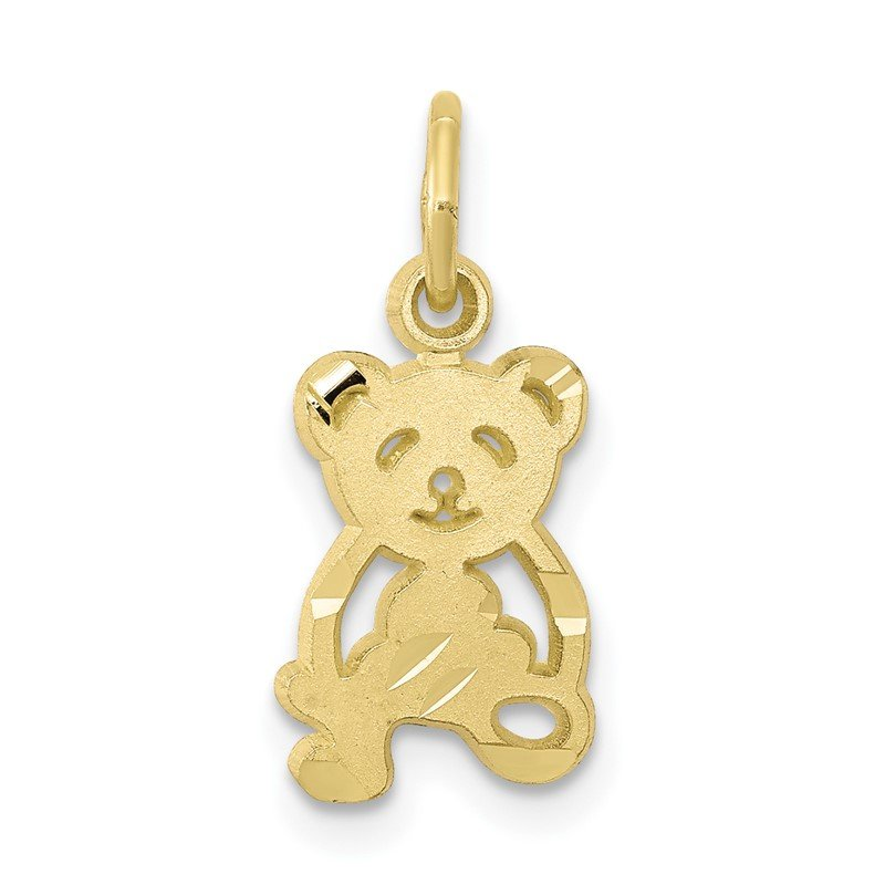 Quality Gold 10k Teddy Bear Charm