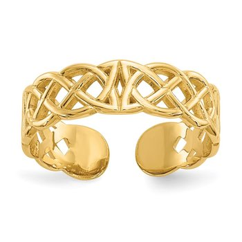 14k Celtic Toe Ring