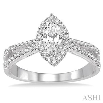 MARQUISE SEMI-MOUNT DIAMOND ENGAGEMENT RING