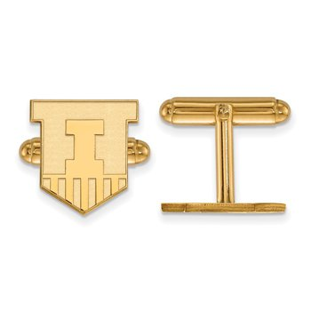 Gold-Plated Sterling Silver University of Illinois NCAA Cuff Links